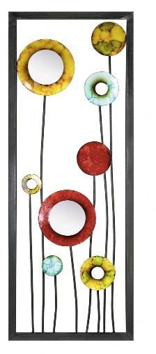 decoratiuni de perete din metal cu oglinzi