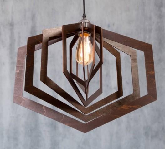 lustra de lemn tip pendul