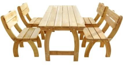 mobilier gradina din lemn