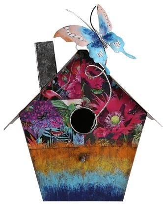 decoratiune gradina casuta pentru pasari